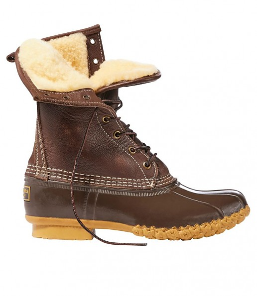 """L.L.Bean Bean Boots, 10"""" Shearling-Lined"""