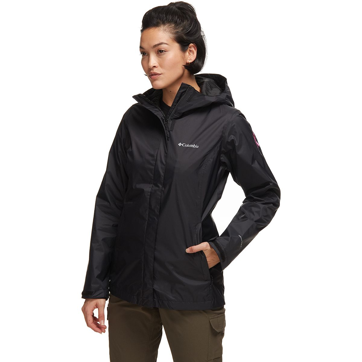photo: Columbia Tested Tough in Pink Rain Jacket II waterproof jacket