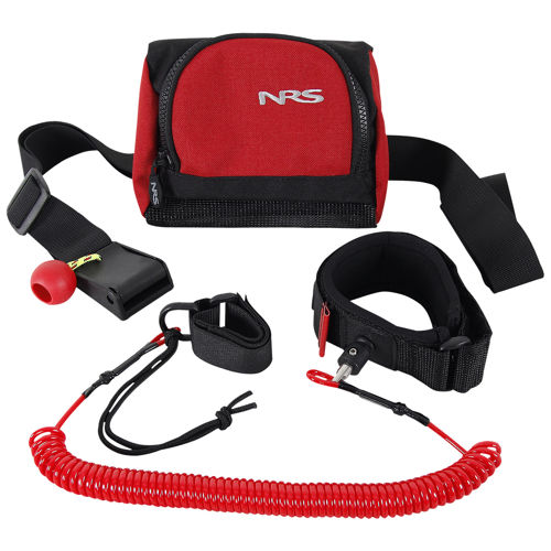 photo: NRS SUP Leash w/Quick Release Belt throw bag/rope