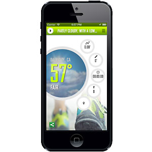 photo:   WeatherRun iPhone App outdoor app