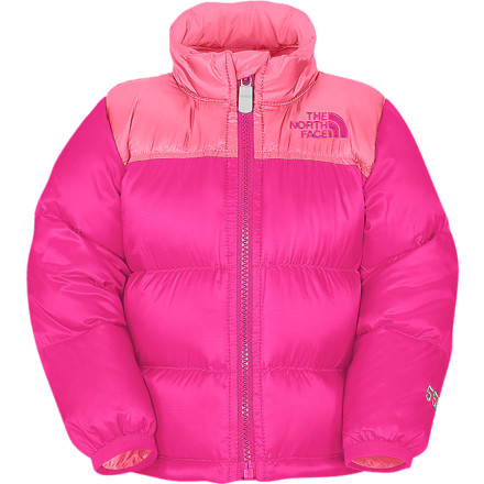 photo: The North Face Girls' Throwback Nuptse Jacket down insulated jacket