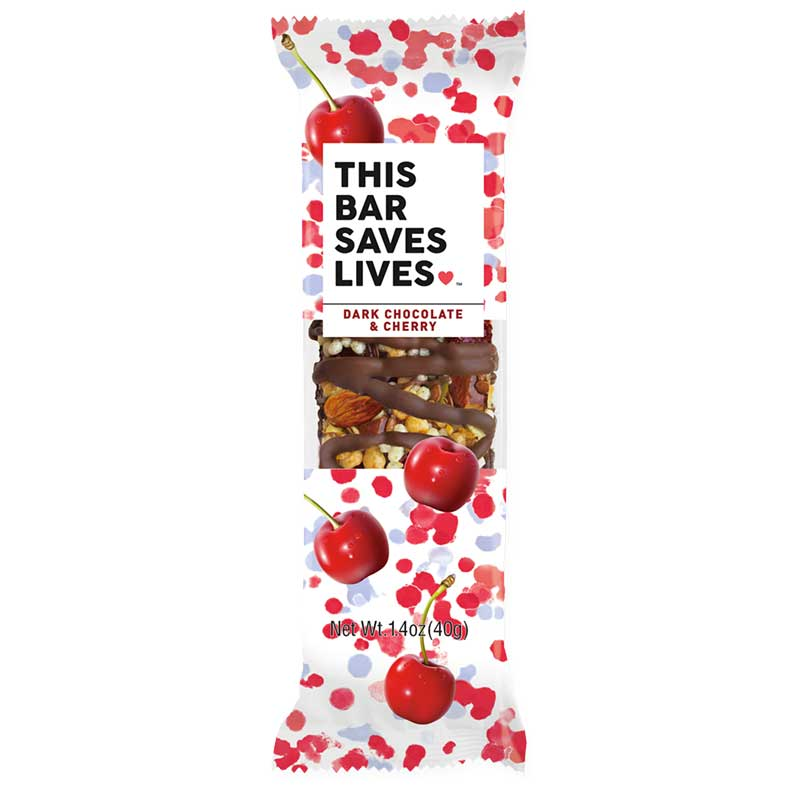 photo: This Bar Saves Lives Dark Chocolate & Cherry nutrition bar