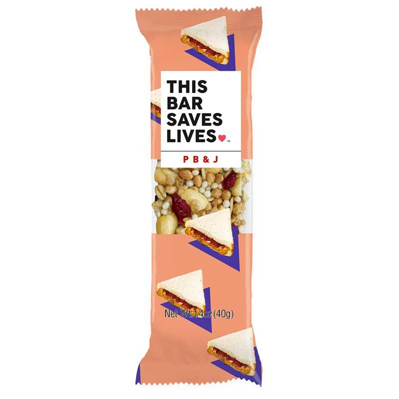 photo: This Bar Saves Lives PB & J nutrition bar