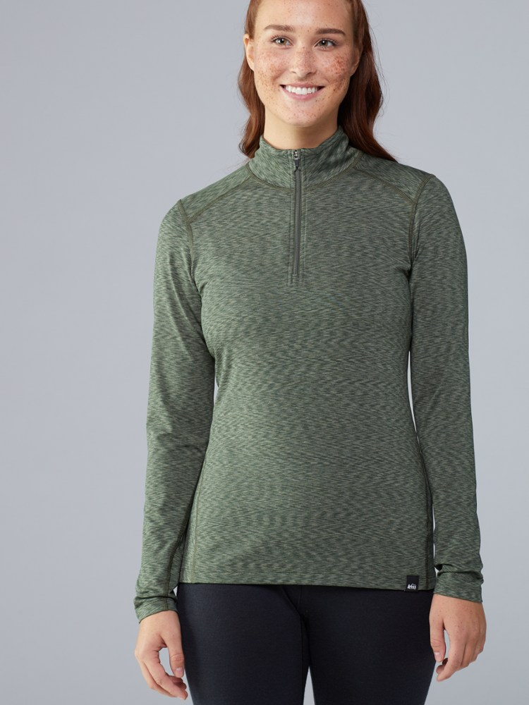 photo: REI Women's Midweight Half-Zip Top base layer top