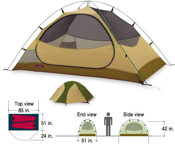 photo: MontBell Thunder Dome 2 three-season tent