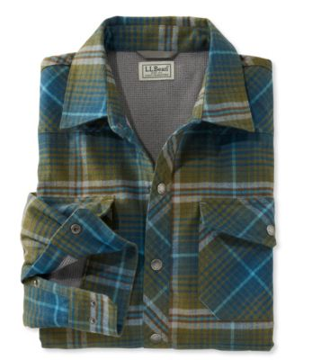 L.L.Bean Overland Performance Flannel Shirt, Lined