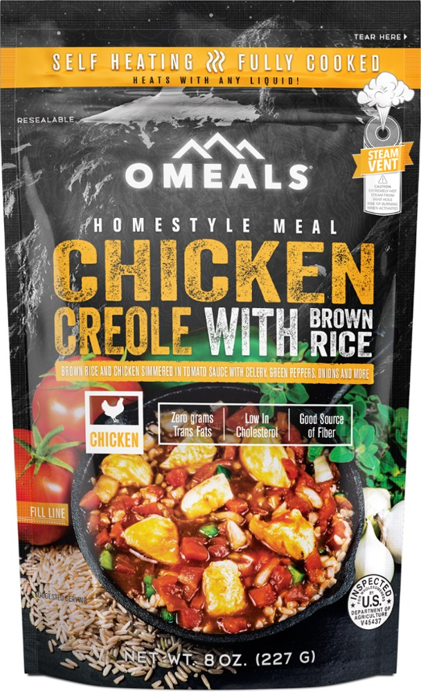 photo: OMeals Chicken Creole with Brown Rice meat entrée
