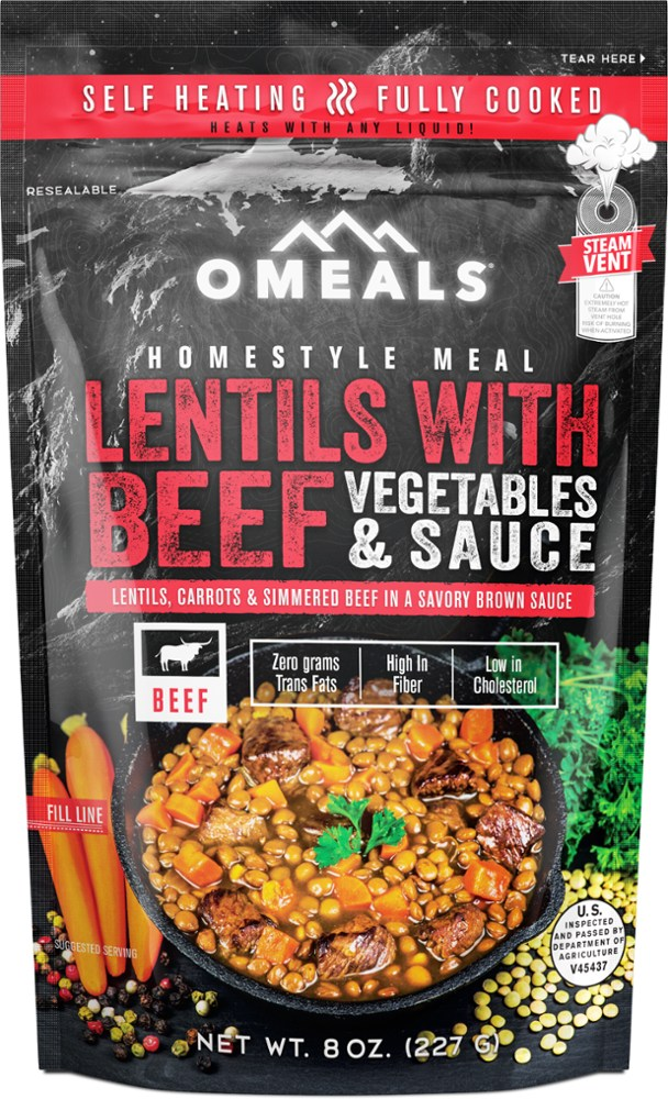 photo: OMeals Lentils with Beef meat entrée