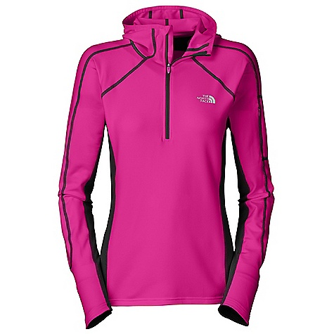 photo: The North Face Women's Impulse 1/4 Zip Hoodie long sleeve performance top