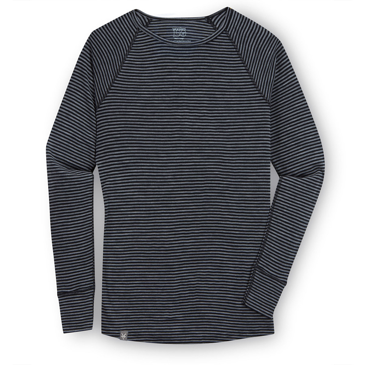 photo: Ibex Woolies Crew Stripe base layer top