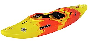 photo of a Pyranha whitewater kayak