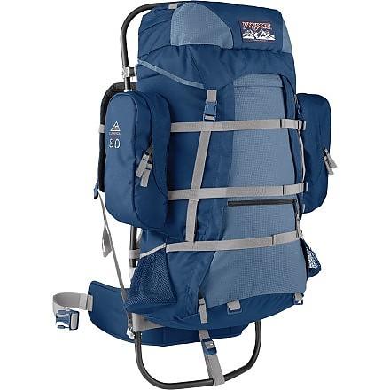 photo: JanSport Carson 80 external frame backpack