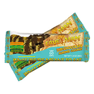 photo:   Cave Man Dark Chocolate Almond Coconut Bar nutrition bar
