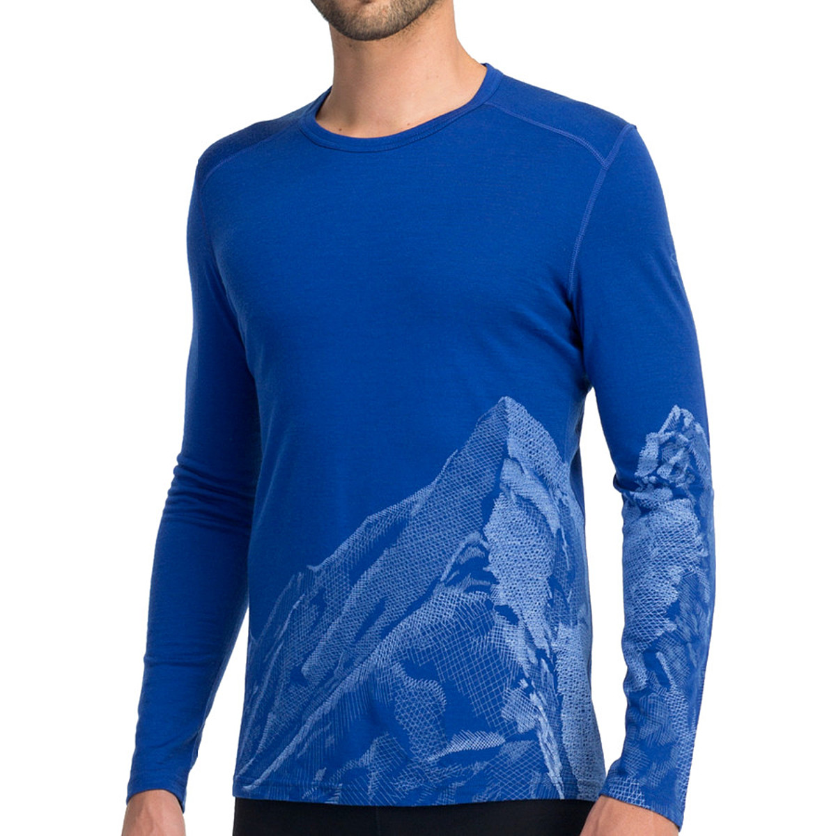 Icebreaker Oasis Long Sleeve Crewe Slopes