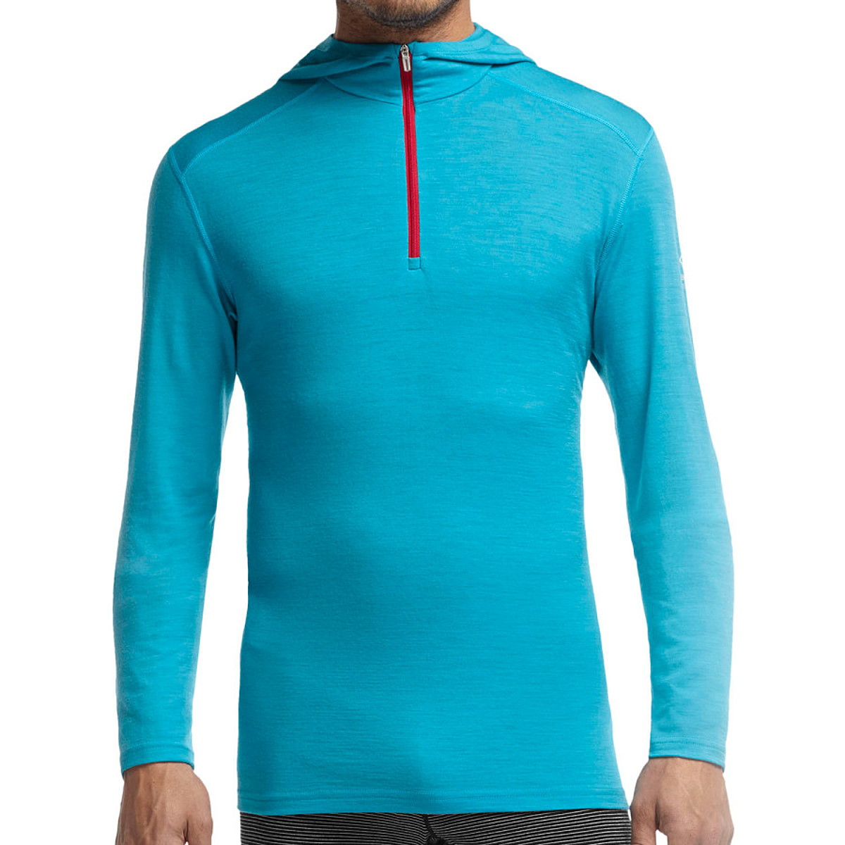 photo: Icebreaker Men's Oasis Long Sleeve Half Zip Hood base layer top