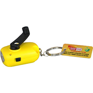 Solarrific Solar/ Handcrank LED Flashlight Keychain