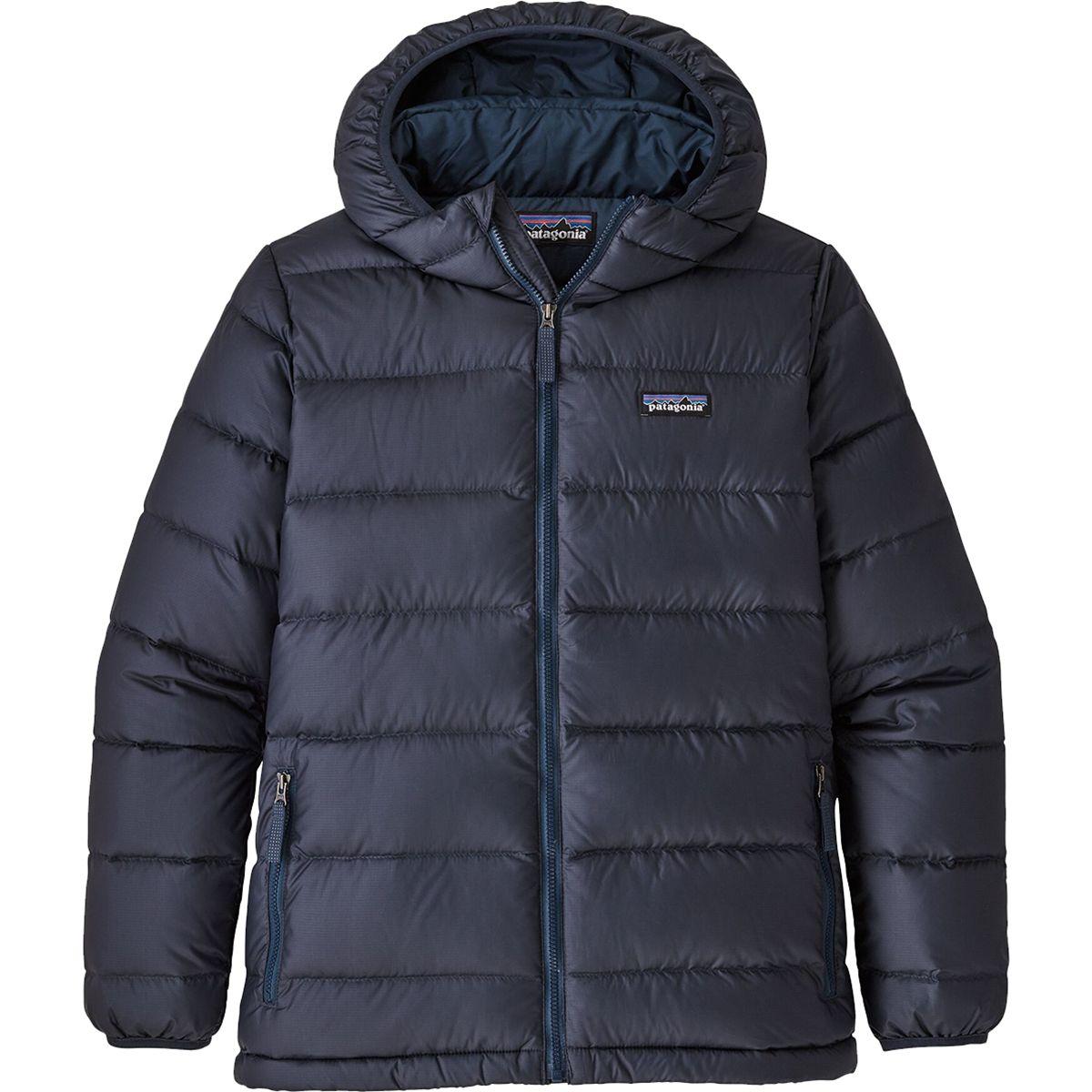 photo: Patagonia Boys' Hi-Loft Down Sweater Hoody down insulated jacket