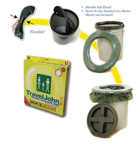 photo: TravelJohn Flexible Commode/Chair waste and sanitation supply/device