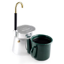 photo: GSI Outdoors 4 Cup Aluminum Mini Expresso coffee press/filter