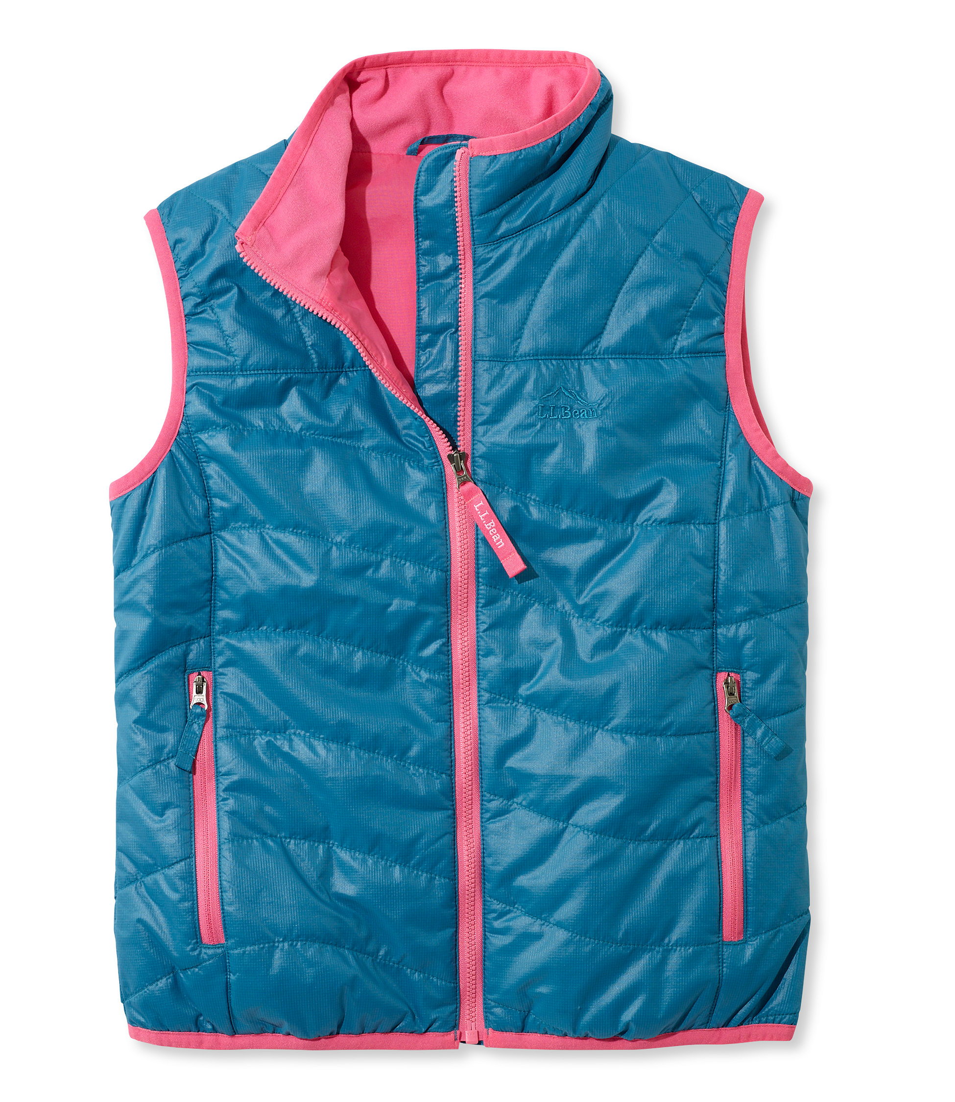 photo: L.L.Bean Girls' Puff-N-Stuff Vest synthetic insulated vest