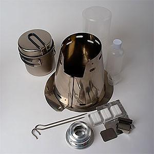 photo: Trail Designs Classic Ti-Tri multi-fuel stove