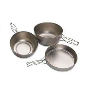 photo: Snow Peak Titanium Cookset, 3 Piece cookware
