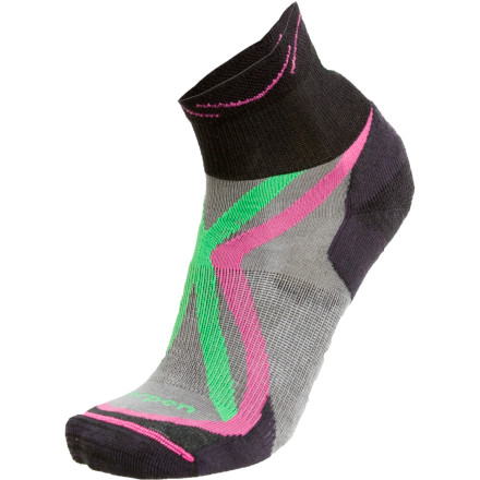 photo: Lorpen Women's Tri-Layer Light Shorty Sock running sock