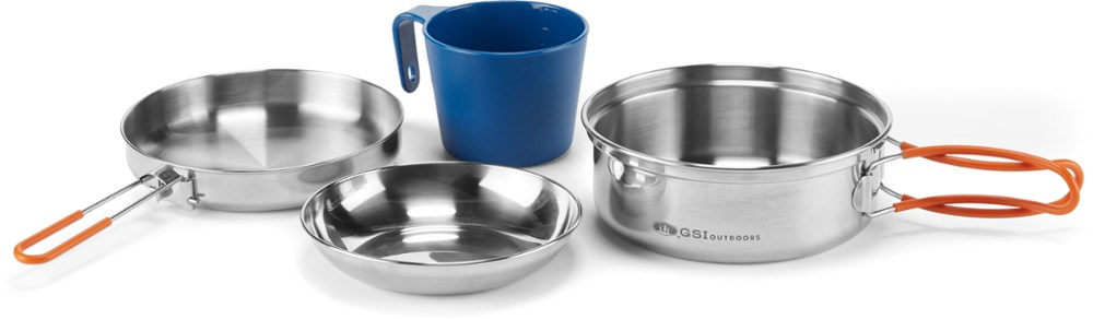 GSI Outdoors Glacier Stainless Steel Mess Kit