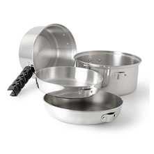 GSI Outdoors Glacier Stainless Cookset Medium