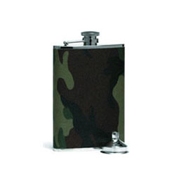 Texsport Camouflage Stainless Steel Hip Flask