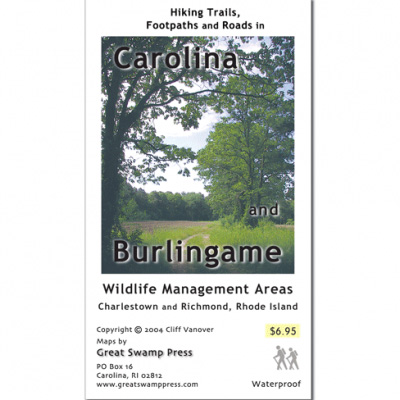 Adirondack Mountain Club Carolina & Burlingame Wildlife Management Areas Map