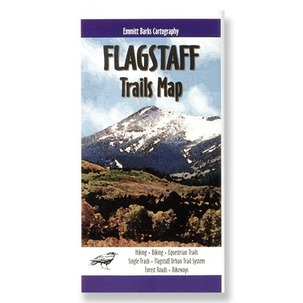 photo: Emmitt Barks Flagstaff Trails Map us mountain states paper map