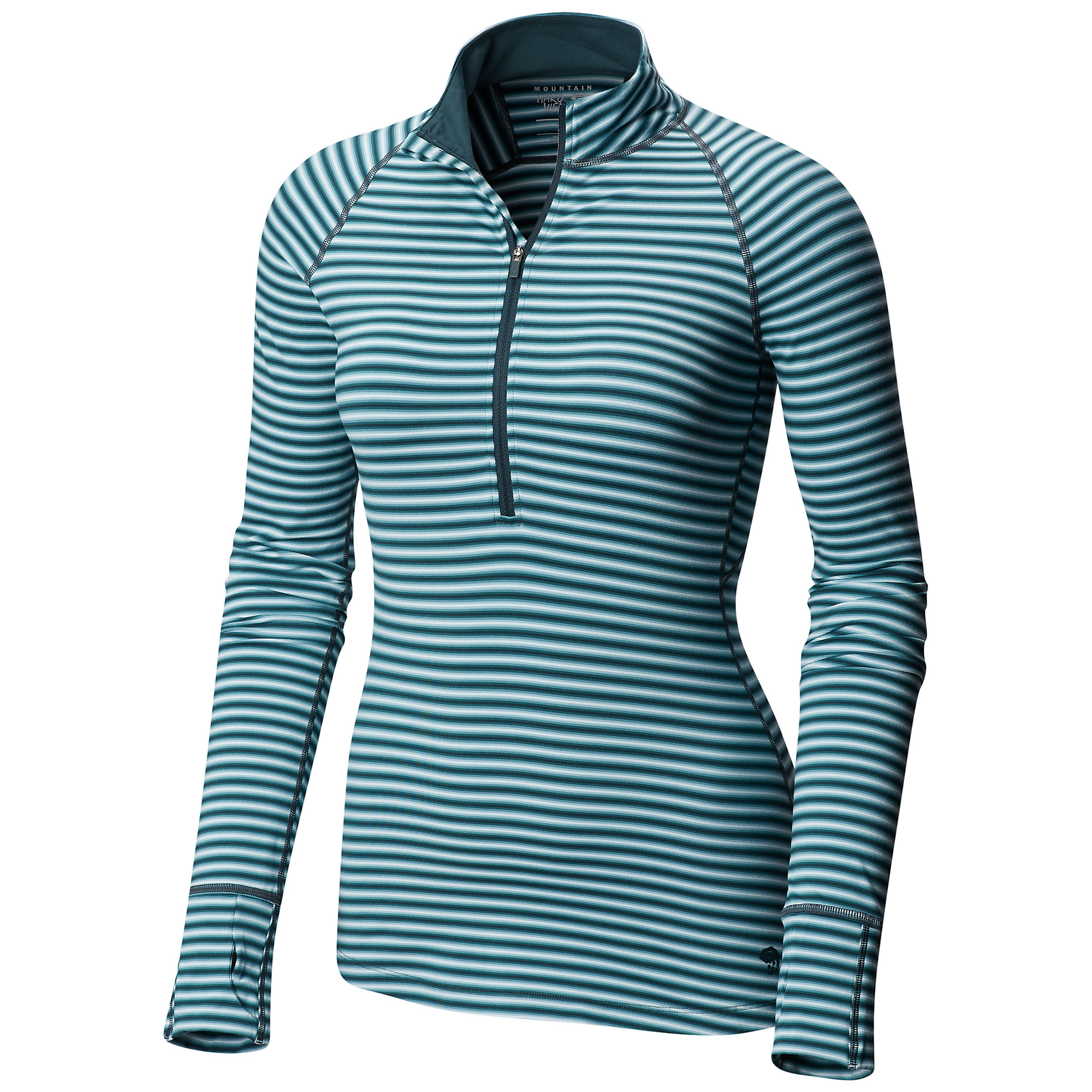photo: Mountain Hardwear Butterlicious Stripe Long Sleeve Half-Zip long sleeve performance top