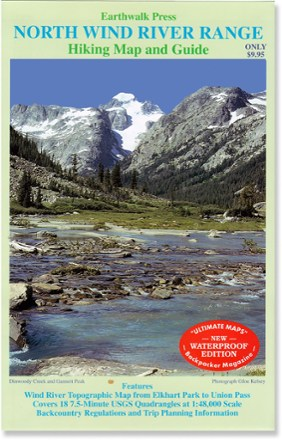 Earthwalk Press Northern Wind River Range Hiking Map & Guide