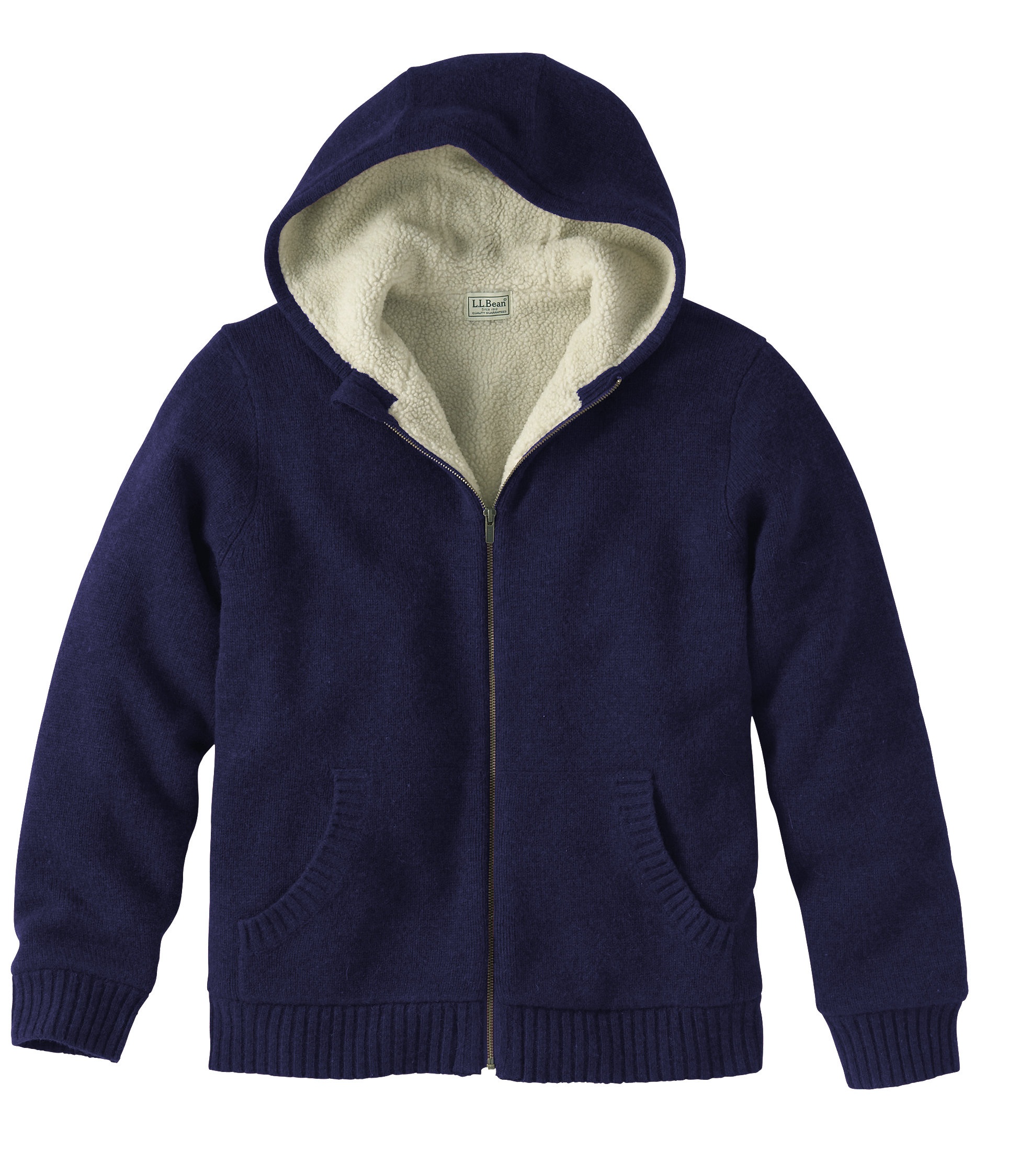 L.L.Bean Sherpa Fleece-Lined Sweater, Hoodie