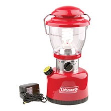 photo: Coleman Retro Rechargeable Full-Size Lantern battery-powered lantern