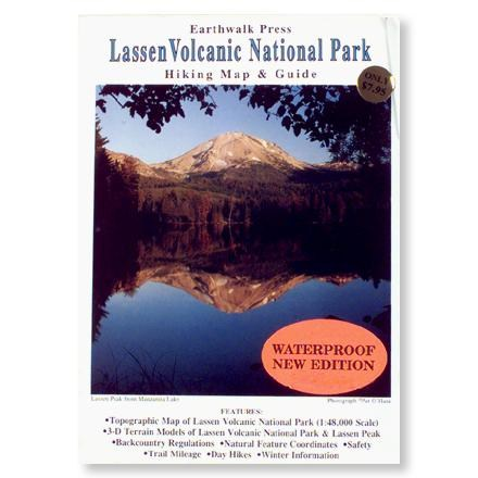 Earthwalk Press Lassen Volcanic National Park Hiking Map & Guide