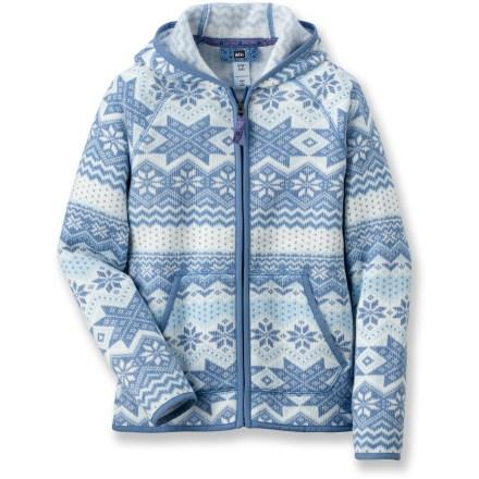 REI Hooded Zip Fleece Jacket