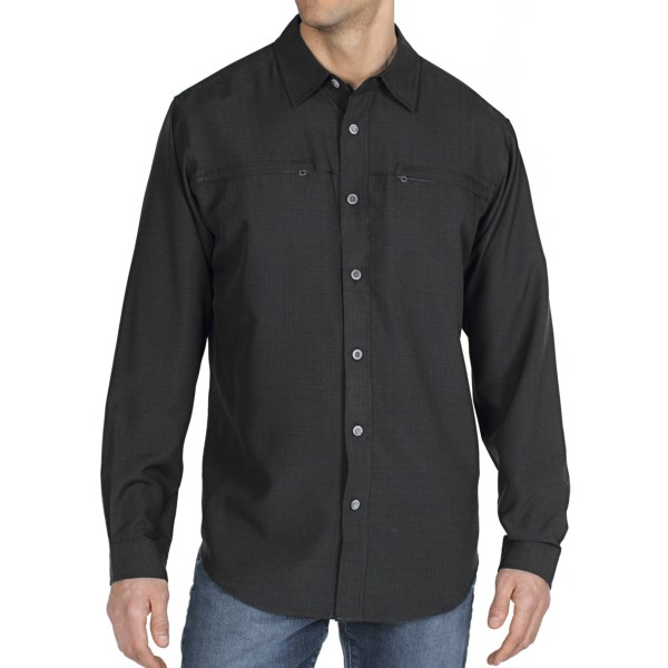 photo: ExOfficio Trifecta Check Long-Sleeve Shirt hiking shirt