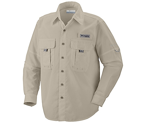 photo: Columbia Boys' Bahama II Long Sleeve Shirt hiking shirt