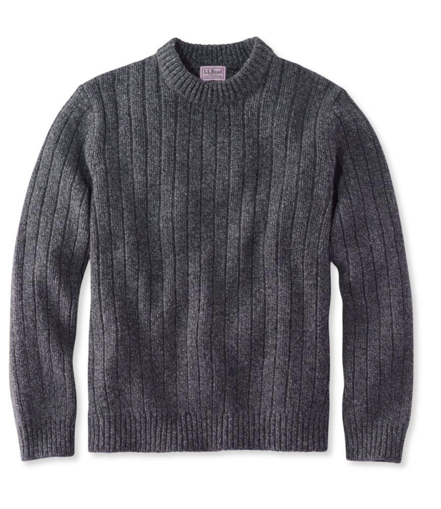 L.L.Bean Classic Ragg Wool Sweater, Crewneck Tall
