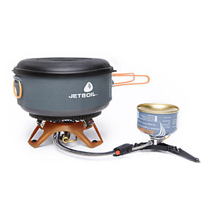 photo: Jetboil Helios Guide compressed fuel canister stove