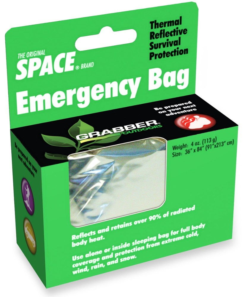 photo: Space Emergency Bag emergency shelter