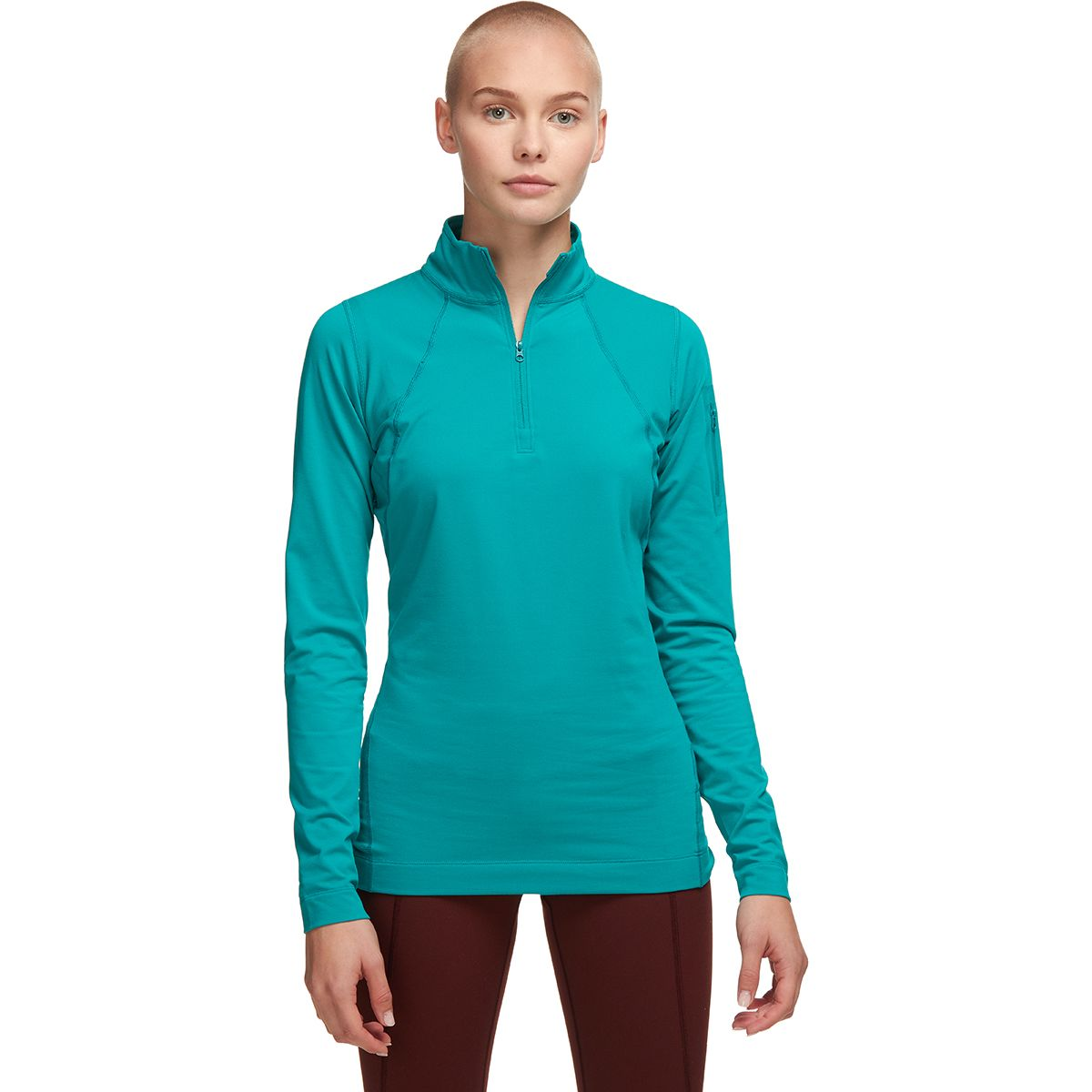 photo: Arc'teryx Women's Rho LT Zip Neck base layer top