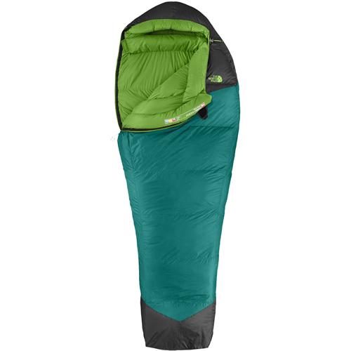 photo: The North Face Green Kazoo 3-season down sleeping bag