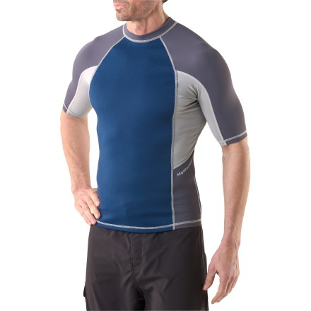 photo: Mysterioso Neoprene Front Rashguard short sleeve rashguard