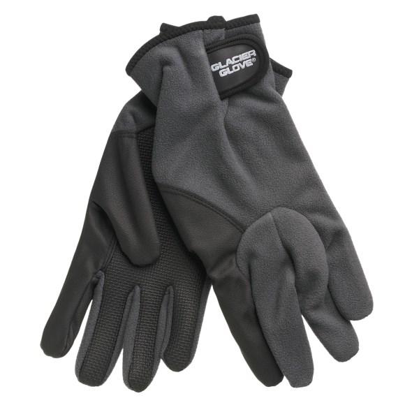 photo: Glacier Glove Windproof Fleece Glove soft shell glove/mitten