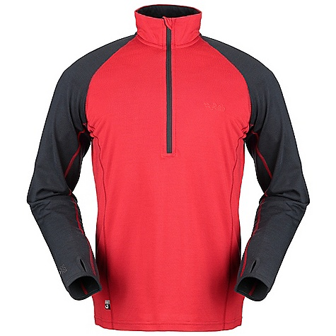 photo: Rab MeCo 250 Long Sleeve Zip base layer top