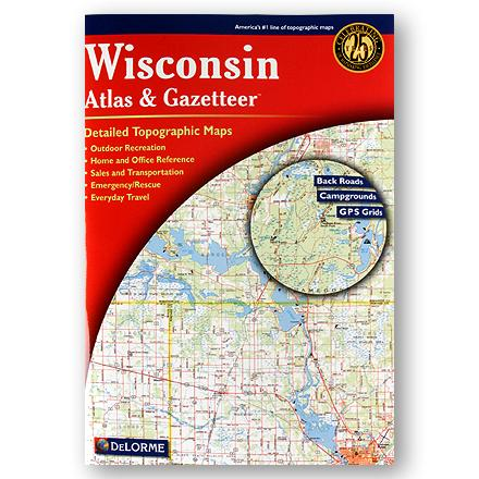 DeLorme Wisconsin Atlas and Gazetteer