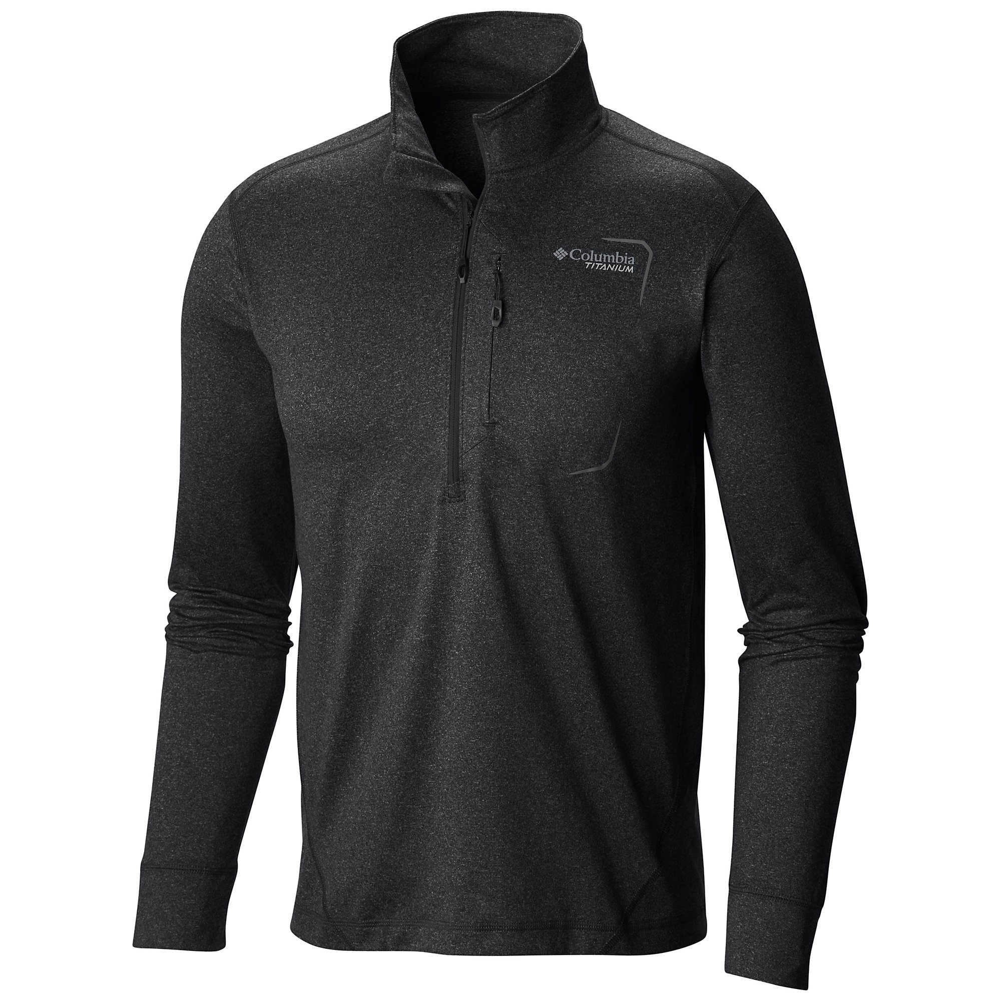 photo: Columbia Men's Diamond Peak Half Zip long sleeve performance top